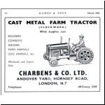 Games & Toys advert for the clockwork tractor